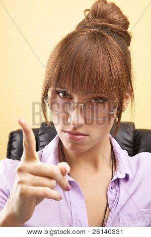 warning office worker