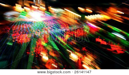 abstract shot of nightclub