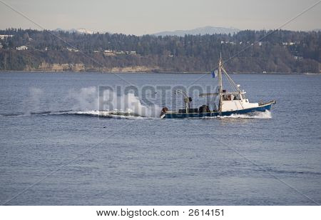 Fishing Boat On Puget Sound