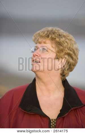 Mature Woman Lookin Up