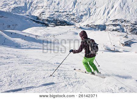 On The Slopes Of The Ski Resort. Austria