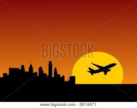 Plane Taking Off  Philadelphia
