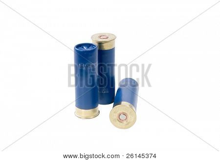 Three 16-gauge shotgun shells