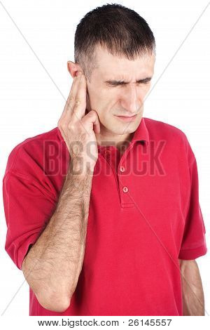 Man Have Pain In Ear