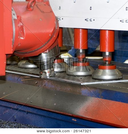 An industrial grinding bench