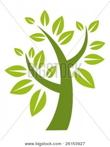 green stylized tree