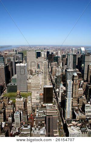 View of Manhattan skyscrapers New York