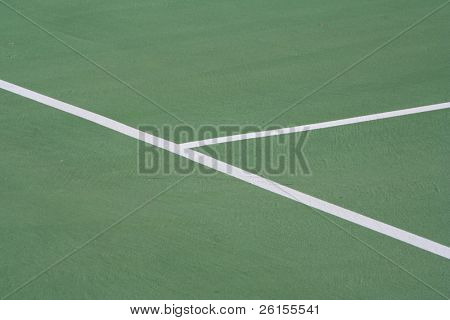 Lines of a tennis court for background use