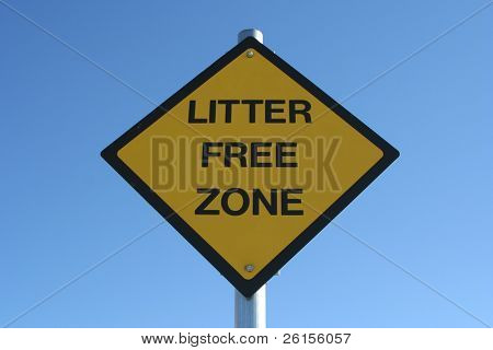 Sign for no littering