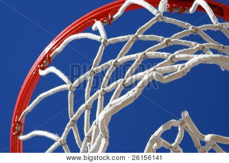 Angle of a basketball net for background