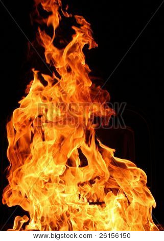 Burning flames for detail