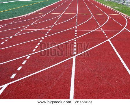 Running track lines