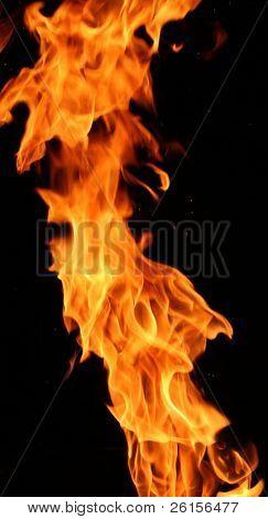 Levantamiento de la llama