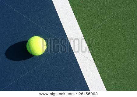 Ball on the inner blue court good fpr background