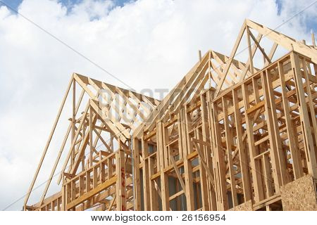 Frame of a house