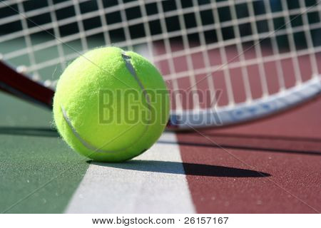 tennis ball before a racquet
