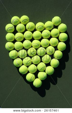 Heart of tennis balls