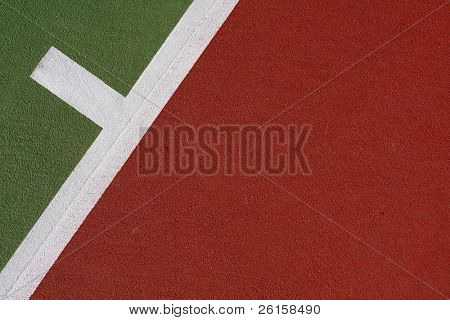 Tennis court lines for sports background, copyspace