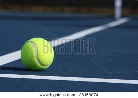 Tennis with room for copy