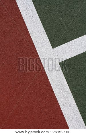 Tennis court background with room for copy