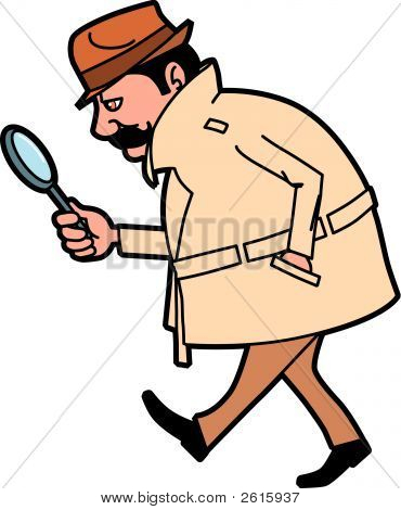 Investigator Looking Up Clues