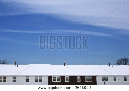 Roof Under Fresh Snow