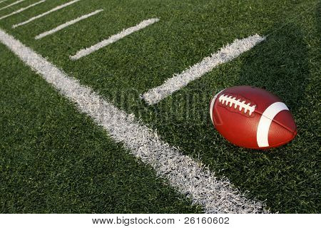 Football near the yard lines