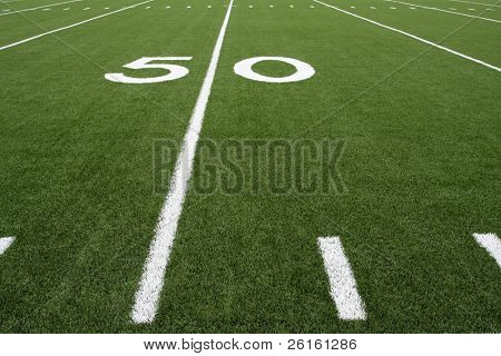 Fifty Yard Line of a Football Field