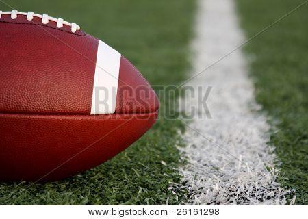 American Football near the yard line