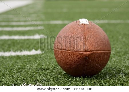 American Football with yard lines beyond