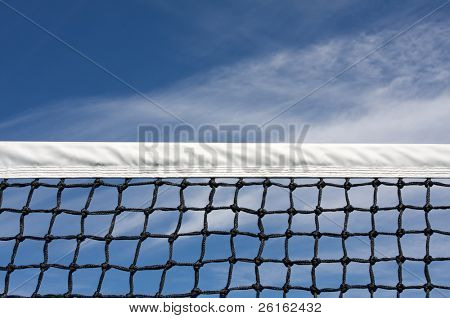 Tennis Court Net with room for copy