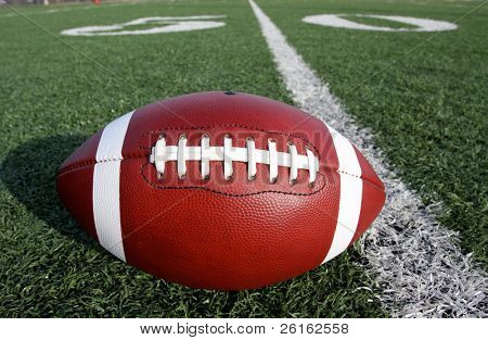 American Football with the Fifty Yard Line
