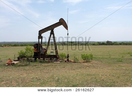 Oil Pump in the West Texas Countryside