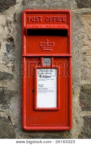 british red postbox, letter box