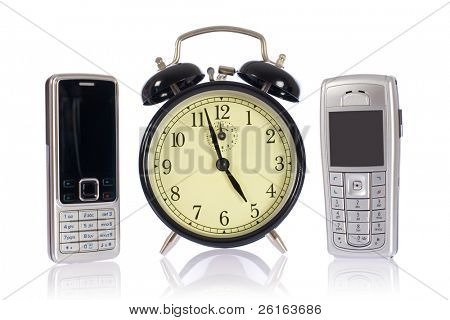 mobile phones with alarm clock, endless talks, time for upgrade