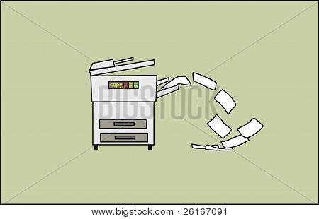 Copy Machine Spitting