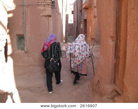 Abyaneh Ladies Walking Iran 2006 395