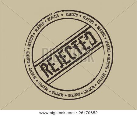 Grunge stamp rejected