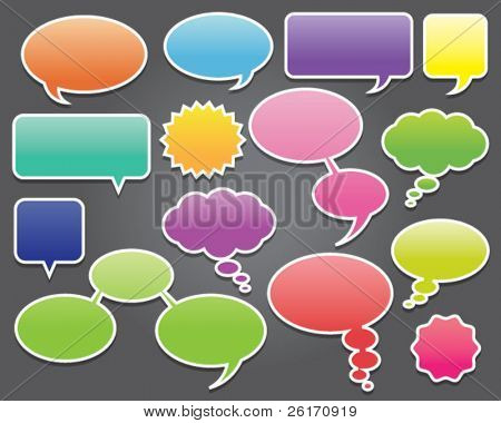 Colorful Speech Bubble Labels