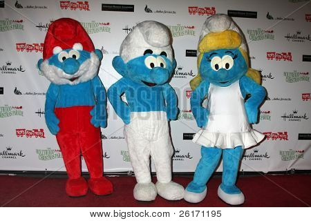 LOS ANGELES - NOV 27:  Smurfs arrives at the 2011 Hollywood Christmas Parade at Hollywood Boulevard at Sycamore on November 27, 2011 in Los Angeles, CA