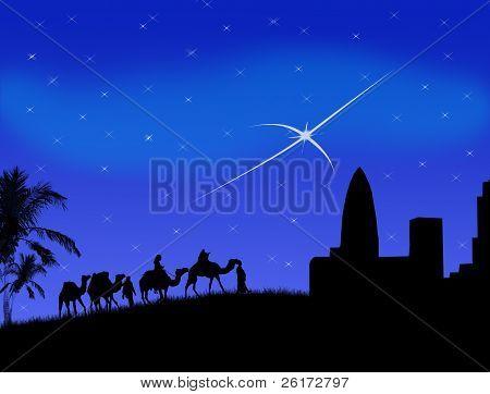 Wise Men Traveling To Bethlehem