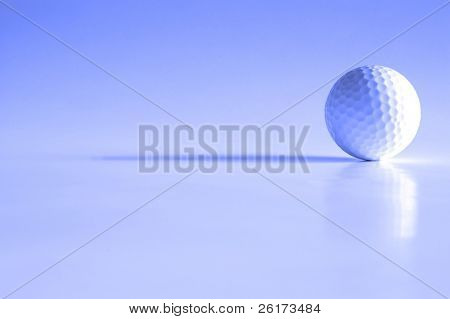 Closeup of golfball with dark shadows
