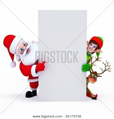 Santa with sign
