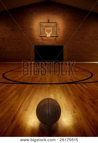 Basketball Stock des leeren Basketballplatz