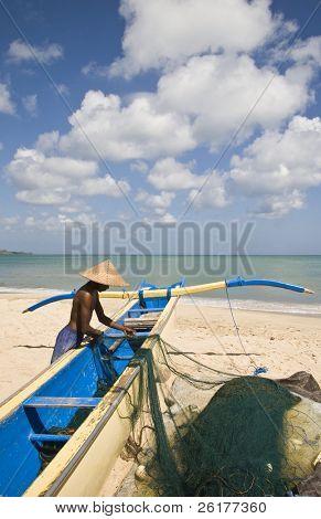 Balinese fisher