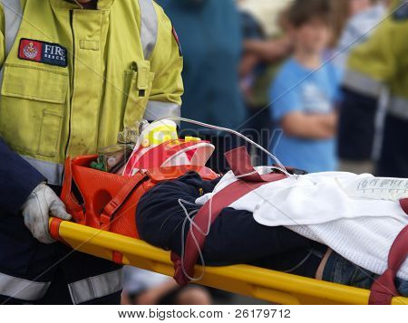 Accident Victim on Stretcher