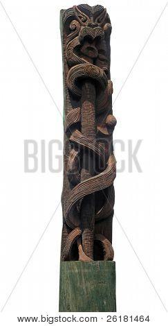 Maori Carved Pole