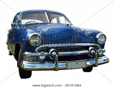 1952 V8 Custom Car, isolated with clipping path