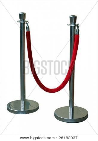 Portable Barrier for Queue Control isolated with clipping path
