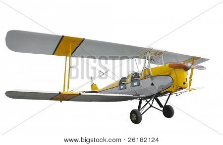 Tiger Moth isolated with clipping path